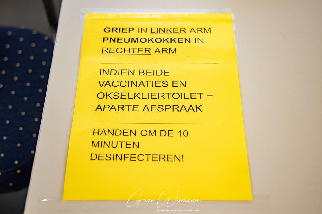 Griepvaccinatie voorbereidingen in De Dissel